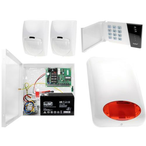 System alarmowy: płyta główna ca-4 vp + manipulator ca-4 vkled + 2x czujnik ruchu + akcesoria marki Satel set