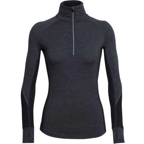 winter zone half zip koszulka sportowa jet heather/black/snow marki Icebreaker