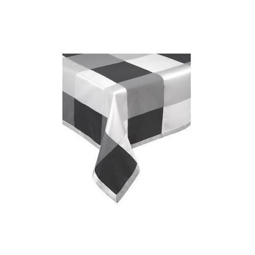 obrus 120x160 kratka czarny-biały (5906363790716)