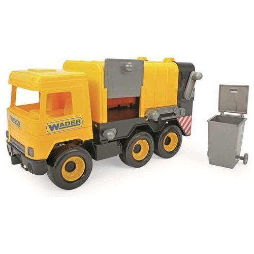 Wader Auto middle Truck popelář žlutý (5900694321236)