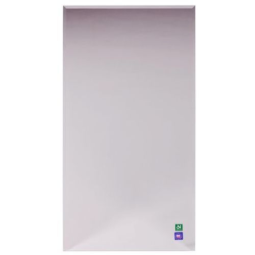 Lustro łazienkowe bez oświetlenia PROSTOKĄTNE 80 x 40 cm DUBIEL VITRUM, kolor biały