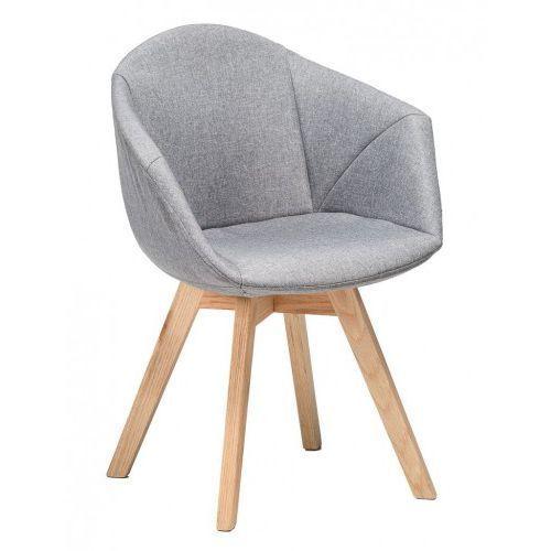 Krzesło Albert tapicerowane szare
