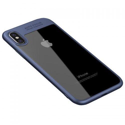 Etui z ramką frame iphone xs / x niebieskie marki Ipaky