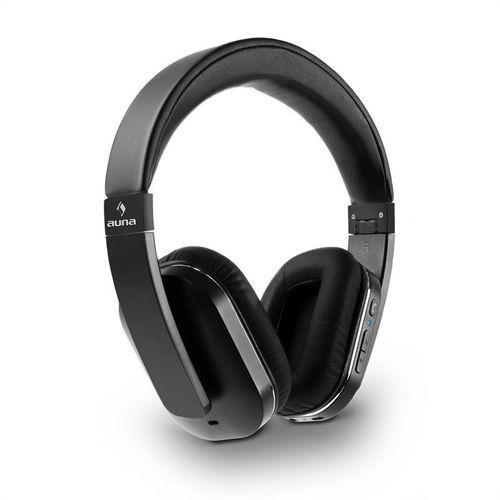 auna Elegance ANC Słuchawki NFC Bluetooth zestaw słuchawkowy czarny Zamów ten produkt do 21.12.16 do 12:00 godziny i skorzystaj z dostawą do 24.12.2016