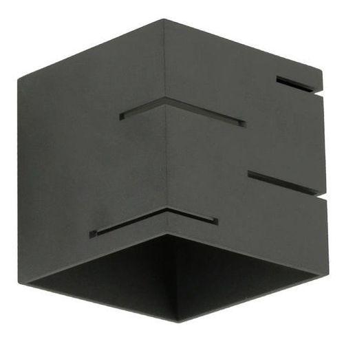 Lampex Quado MODERN A 692/A CZA kinkiet lampa ścienna 1x40W G9 czarny