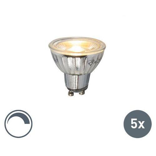 Luedd Zestaw 5 zarówek gu10 led lamp 7w 500lm 2700k sciemnialna