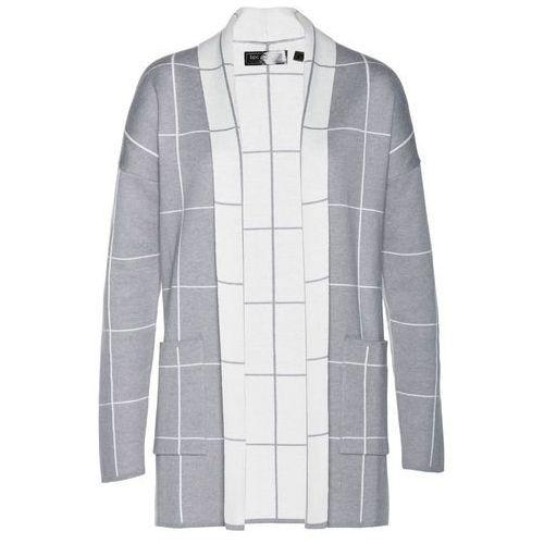 Długi sweter brązowo-złoty marki Bonprix