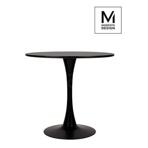 Sofa.pl Modesto stół tulip fi 80 czarny - mdf, podstawa metalowa