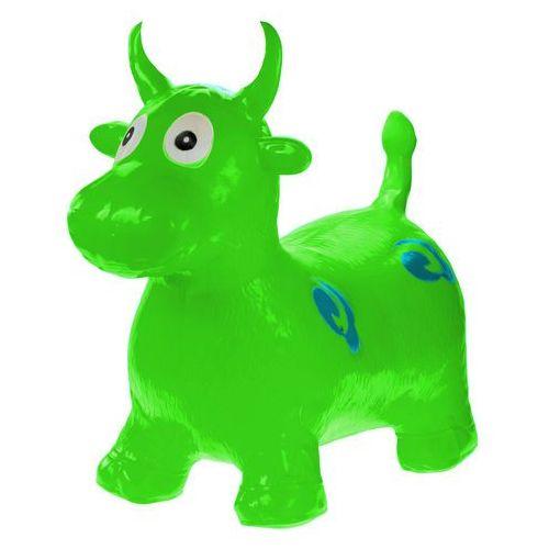 Skoczek gumowy krówka krowa - zielony