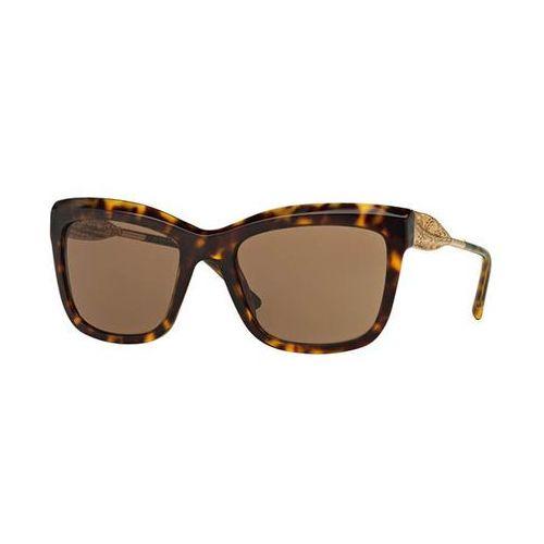 Okulary Słoneczne Burberry BE4207F Gabardine Lace Asian Fit 300273, kolor żółty