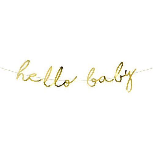 Baner na baby shower hello baby - 1 szt. marki Party deco