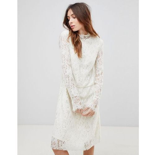 See U Soon Lace Dress with High Neck - Cream