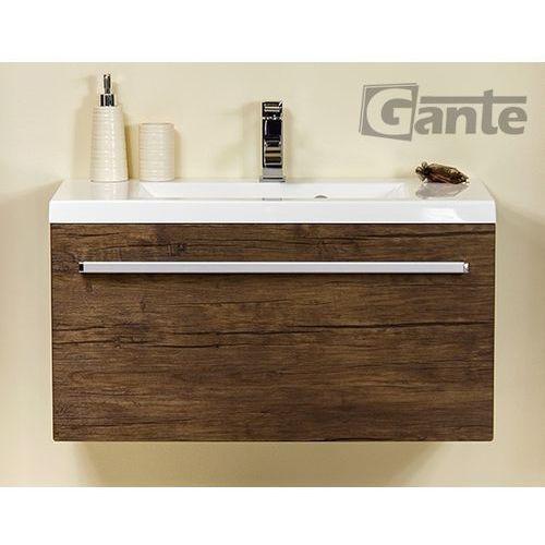 Szafka wisząca z umywalką 80/39 seria fokus ad marki Gante