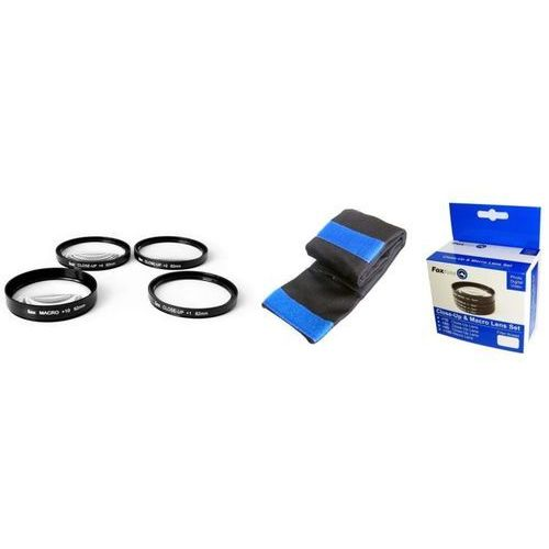 FoxFoto Zestaw soczewek makro +1, +2, +4, +10 dioptrii 62mm - produkt z kategorii- Fotografia makro