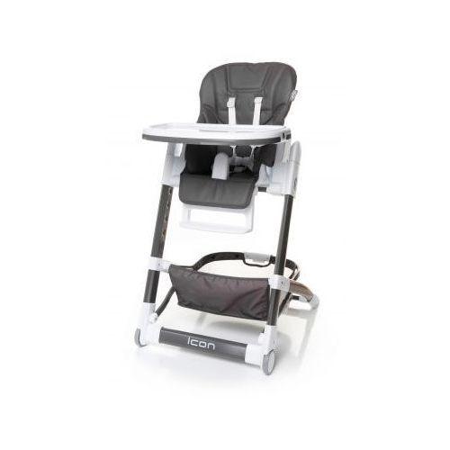icon krzesełko do karmienia ekoskóra nowość grey od producenta 4baby
