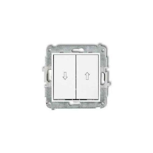 Karlik Przycisk żaluzjowy mini mwp-8 podtynkowy biały