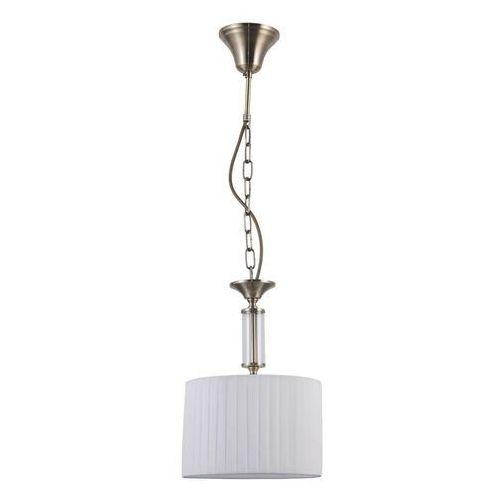 Italux Ferlena PND-28343-1 lampa wisząca zwis 1x40W E14 biała/antyczny brąz