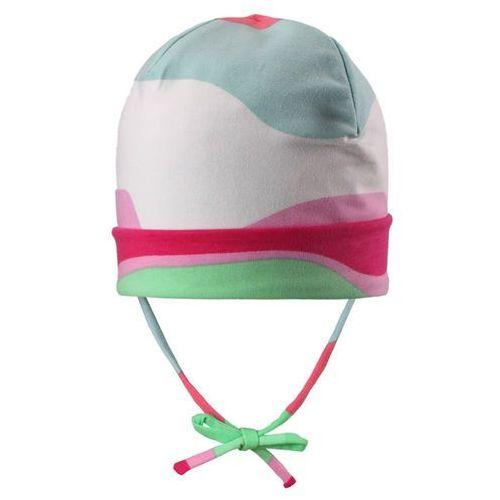 Czapka beanie huvi róowyzielonybiały - biały/różowy marki Reima