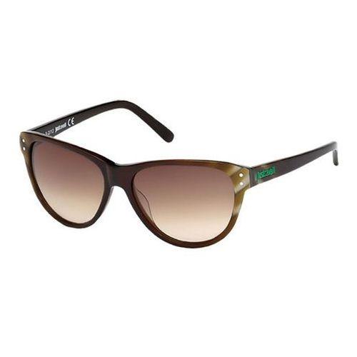 Okulary Słoneczne Just Cavalli JC 497S 55F C, kolor żółty