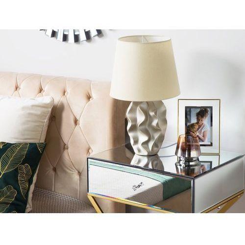 Beliani Lampa stołowa złota 46 cm allika (4260624111315)