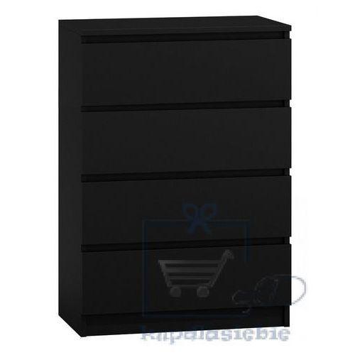 Komoda Malwina II 4 szuflady Czarna (5902838463574)