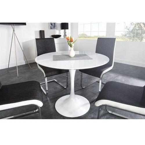 Stół tulip premium 100 biały - włókno szklane, metal marki King home