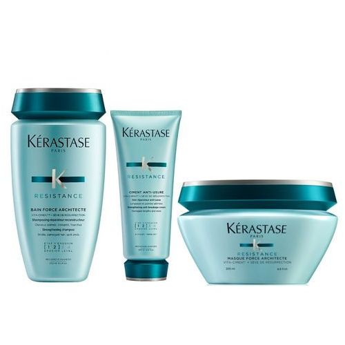 Kerastase Resistance Force Architecte Bain 250ml + Cement Anti-Usure 200ml + Mask 200ml