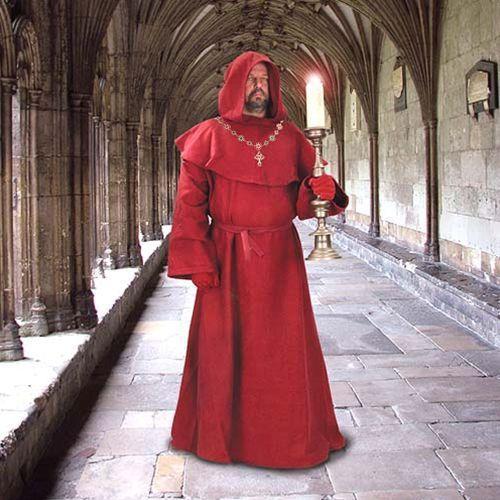 Szata mnicha z kapturem czerwona, Płatnerze