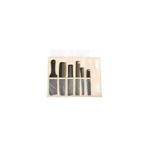 Fox barber expert, zestaw grzebieni w etui, 6 szt, etui lniane (5904993464458)