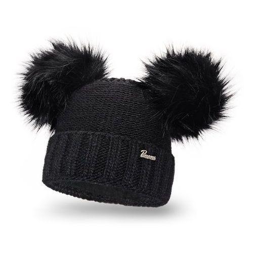 Zimowa czapka damska PaMaMi - Czarny - Czarny
