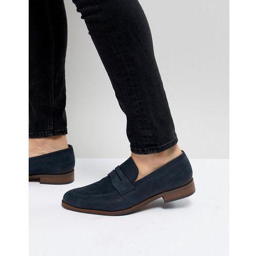 penny loafers in blue nubuck - blue marki Dune