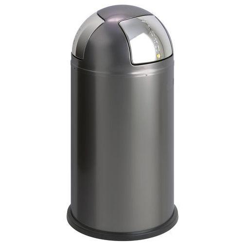 Kosz na śmieci do segregacji Push Two grafitowy (4004519128060)