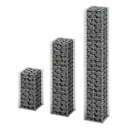 kosze gabionowe z ocynkowanego drutu stalowego, różne wymiary 3 szt. marki Vidaxl