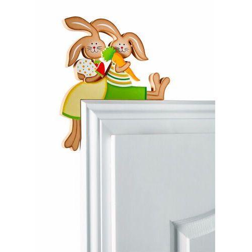 """Dekoracja na ramę drzwi """"Zające"""" bonprix jasnozielono-jasnobrązowy"""