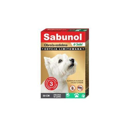 Dr seidla Dr seidel sabunol gpi - obroża przeciw pchłom i kleszczom dla psa ozdobna zielona w łapki 50cm (5901742001407)