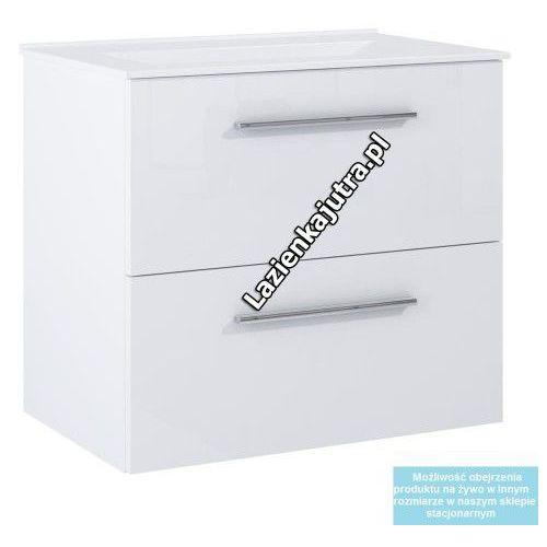 DEFTRANS SILESIA / METRO Zestaw łazienkowy szafka + umywalka 80, biały połysk, 190-D-080011724