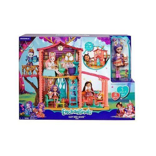 Mattel Lalka enchantimals + domek jelonków