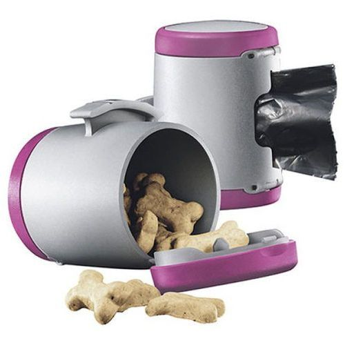 multi box 2w1 akcesorium do smyczy automatycznej kolor szaro-różowy marki Flexi