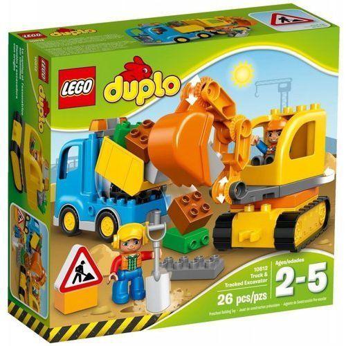 duplo 10812 ciężarówka i koparka gąsienicowa marki Lego