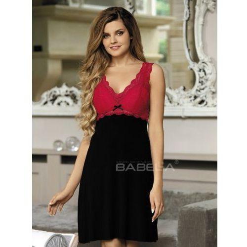 ff347412f7fbf8 Koszule nocne · Koszulka Larisa Czarno-czerwona (usztywniane miseczki)  (5901769721524)