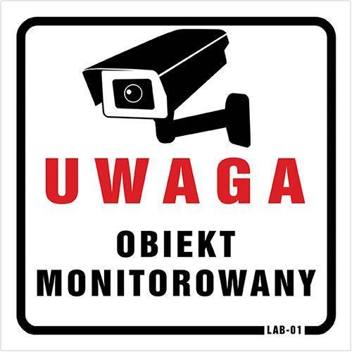 "Naklejka ""UWAGA! OBIEKT MONITOROWANY"""