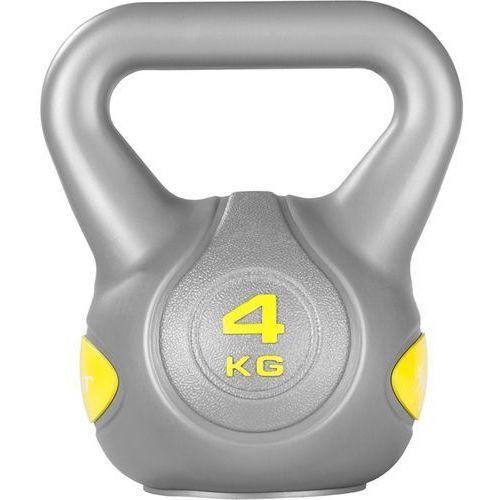 SREBRNA HANTLA KOMPOZYTOWA KULA KETTLEBELL KETLA 4KG - 4 kg (4048821723360)