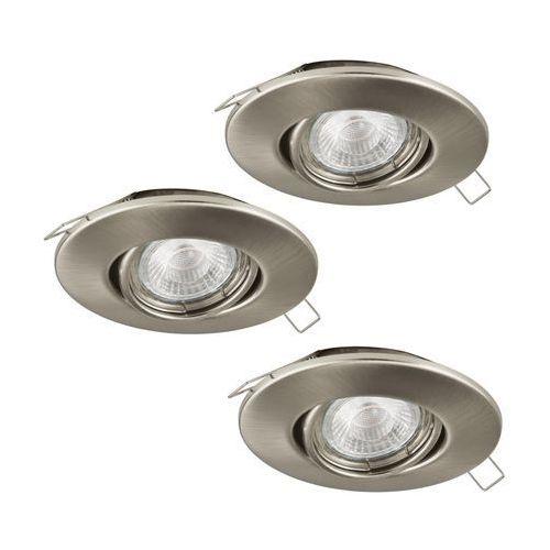Oczko Eglo Tedo 1 95359 oprawa lampa wpuszczana downlight zestaw 3szt 3x5W GU10-LED nikiel mat, 95359