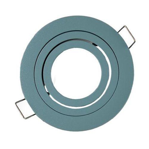 Ledart Oprawa sufitowa aluminium okrągła ruchoma miętowa