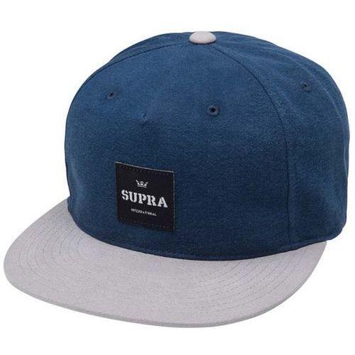czapka z daszkiem SUPRA - Legacy 2 Slider Navy-Grey (440) rozmiar: OS, kolor niebieski