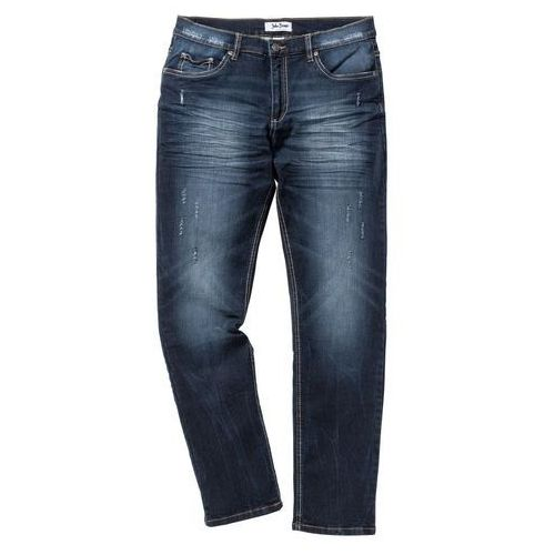 Dżinsy ze stretchem SLIM bonprix ciemnoniebieski, jeansy