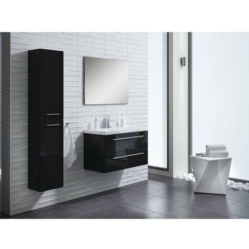 Zestaw szafka z umywalką 80 cm + słupek czarny ELITA (00535717)