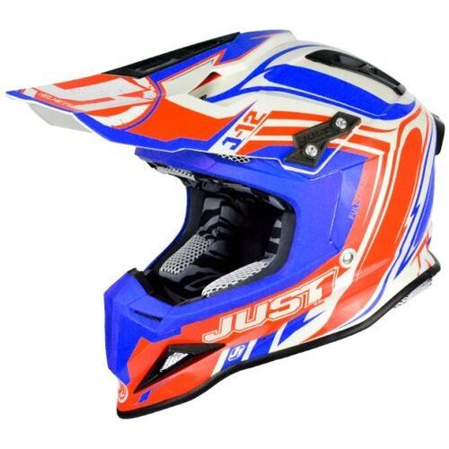 Just1 Kask j12 flame red-blue