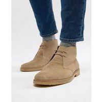Walk london hornchurch suede desert boots in stone - stone