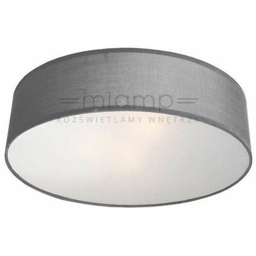 Abażurowa LAMPA sufitowa ALTO LP-81008/3C GRY Light Prestige plafon OPRAWA okrągła szara, kolor Aluminium